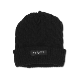 Cable Knit Beanie with fleece lining